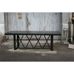 METAL TABLE FRENCH INDUSTRIAL